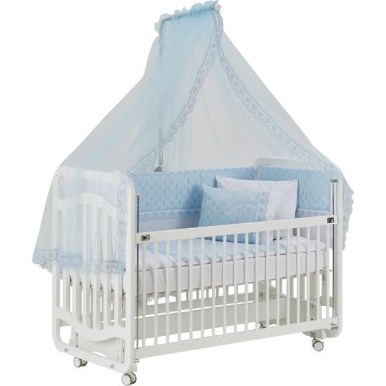 Gg Baby Bebek Uyku Seti Mavi Lüks Pamuk 11 Parça
