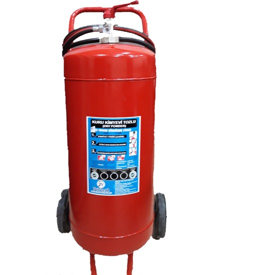 Poyraz Yangın Yangın Söndürücü Yangın Tüpü 50 kg Kuru Kimyevi Kuru Tozlu