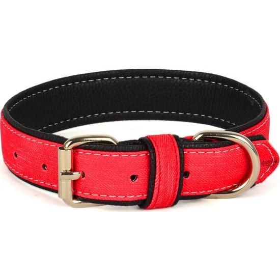 Flip Kanvas Yumuşak Doku Kırmızı 67 cm Köpek Boyun Tasması
