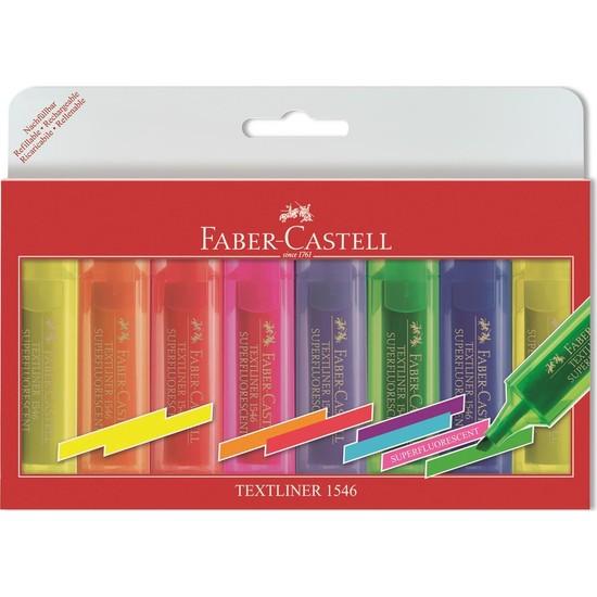 Faber-Castell Şeffaf Gövde Fosforlu Kalem 6+2 Poşet