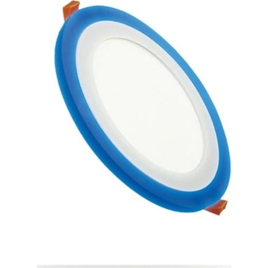Led Pazarı 18 W + 6 W Çift Renk Slim LED Panel Yuvarlak