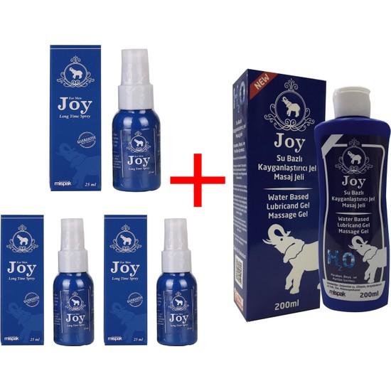 Joy Sprey 3'lü + Joy Su Bazlı Kayganlaştırıcı Masaj Jeli 200 ml
