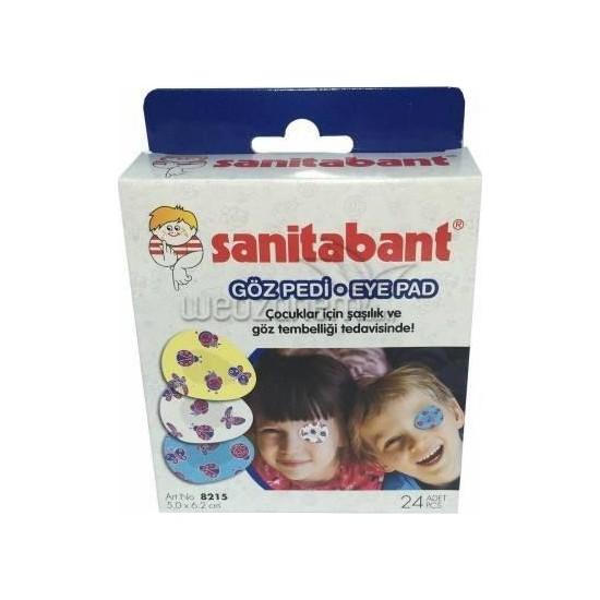 Sanitabant Eye Pad Göz Kapama Bandı 24 Lü 10 Kutu (240 Adet)