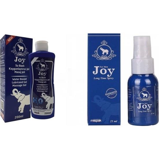 Joy Su Bazlı Masaj Jeli 200 ml Kokusuz ve Aromasız + Joy Sprey