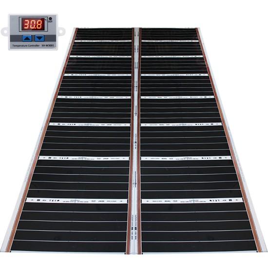 Rexva Xica Ptc-306 Ptc Isı Teknolojili Dijital Termostatlı Halı Altı Karbon Isıtıcı Film - 120 x 200 cm