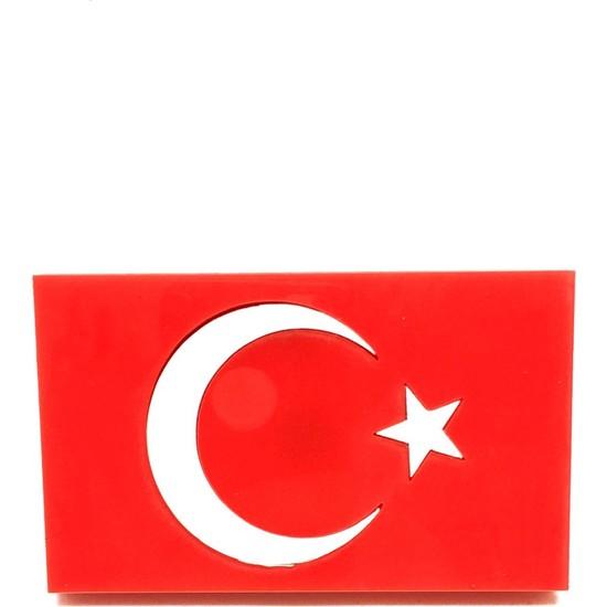 Oto Aksesuarcım Türk Bayrağı Vidalı Pleksi Panjur Arması