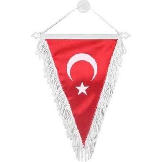 Oto Aksesuarcım Üçgen Bez Türk Bayrağı Orta 24 x 28 cm