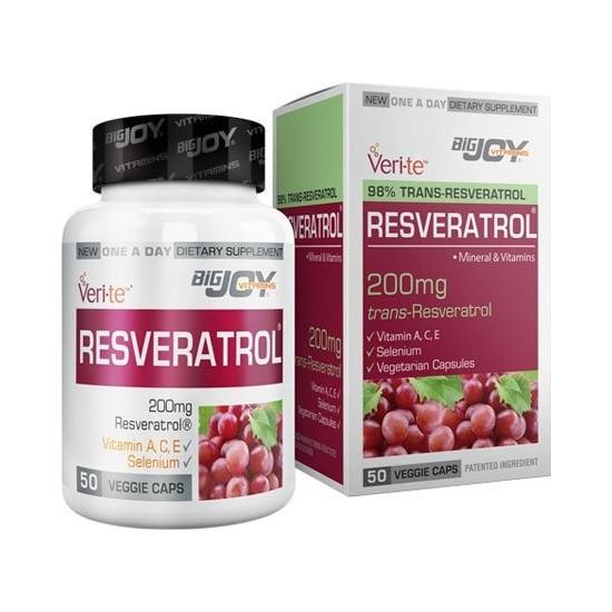 Bigjoy Vitamins Resveratrol 200MG 50 Vegi Kapsül