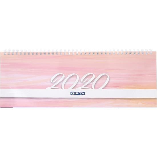 Gıpta 2020 Masa Takvimi 12X33 Haftalık Beyaz 504-Btk
