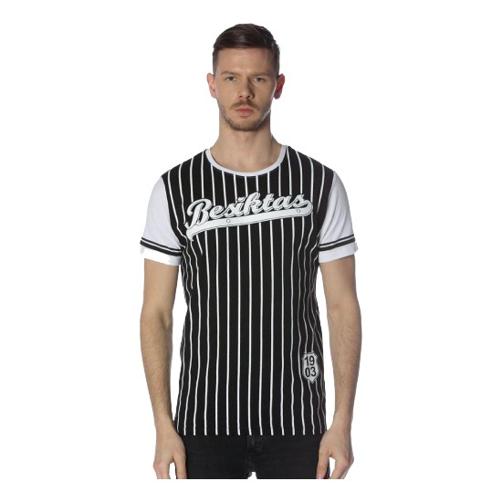 Beşiktaş Erkek Siyah Tişört
