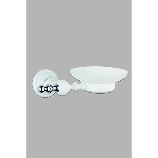 Saray Banyo Artemis Beyaz Krom Sabunluk
