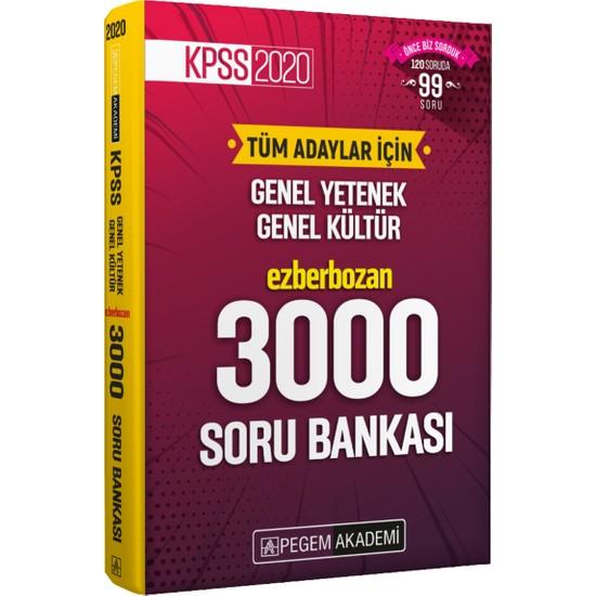 KPSS 2020 Tüm Adaylar İçin Genel Yetenek Genel Kültür Ezberbozan 3000 Soru Bankası