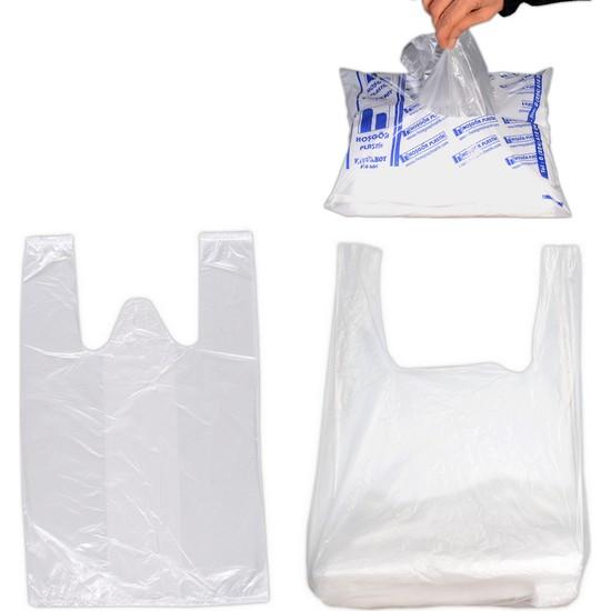 Hoşgör Plastik Hışır Atlet Market Manav Poşeti Büyük Boy Paket:140'lı