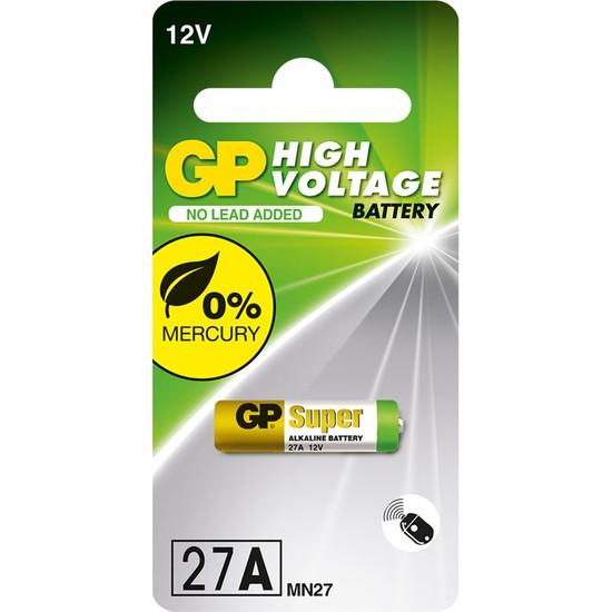 GP Tek'li 27A 12V Yüksek Voltaj Spesifik Pil (GP27AF-2C1)