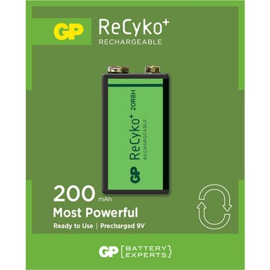 GP ReCyko 200 Serisi 9V NiMH Şarjlı Pil(GP20R8HEMTR-2GB1)