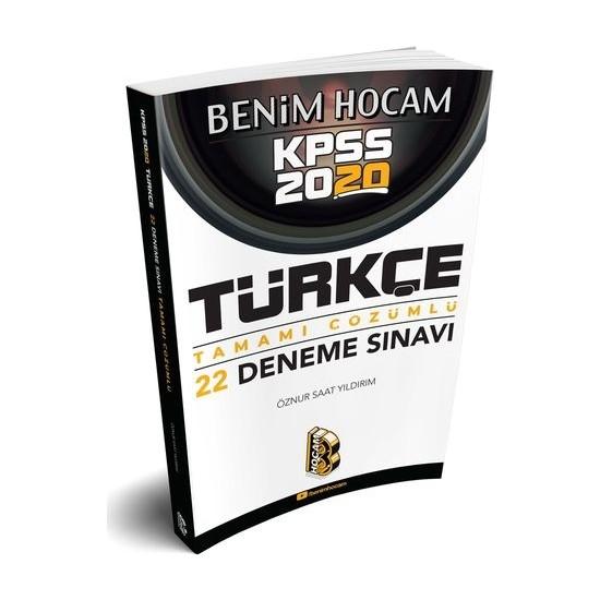 Benim Hocam 2020 KPSS Türkçe Tamamı Çözümlü 22 Deneme - Öznur Saat Yıldırım