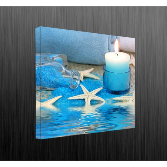Duvar Tasarım DLC 1114 Candle Led Canvas Tablo - 70x50 cm