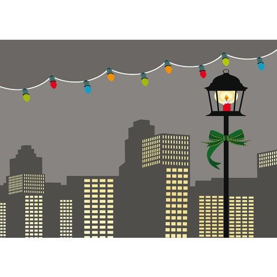Duvar Tasarım DLC 1319 City & Mix Led Kanvas Tablo - 70x50 cm