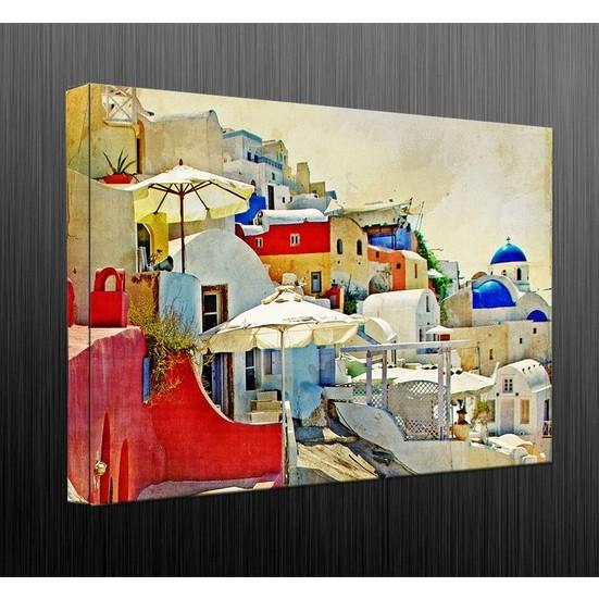 Duvar Tasarım DC 2064 Mediternian Kanvas Tablo - 50x70 cm
