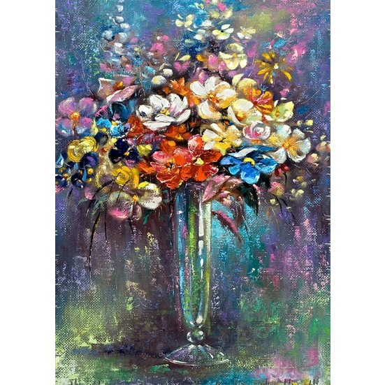 Duvar Tasarım DC 2149 Oil Paint Kanvas Tablo - 50x70 cm