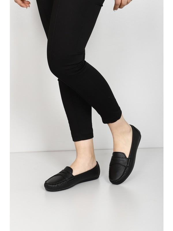 Gönderi® Siyah Kadın Babet 30201