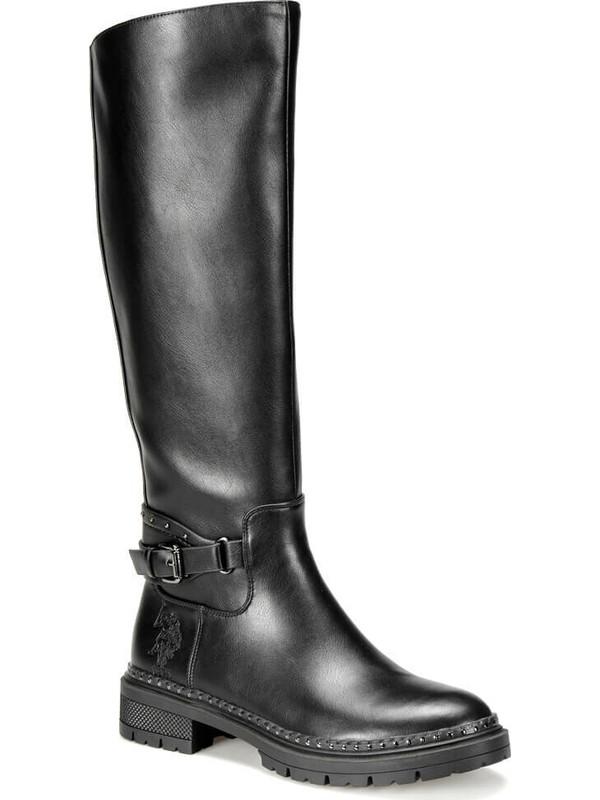 U.S Polo Assn. Sophıe 9Pr Siyah Kadın Çizme 37