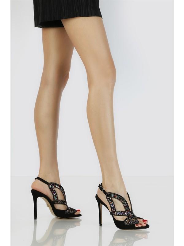 İlvi Solo Kadın Sandalet Multi Siyah