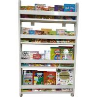 Emdief Home Montessori MağazamDuru Serisi Montessori 4 Raflı Mdf Çocuk Odası Kitaplığı