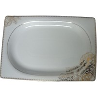 Kütahya Porselen 34X23 cm Porselen Servis Tepsisi