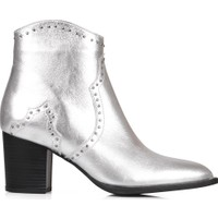 Oblavion Rice Gümüş Topuklu Çizme