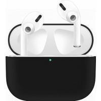 Case 4U Apple Airpods Pro Tam Kaplayan Silikon Kılıf - Siyah