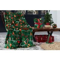 Dolce Bonita Home Wellsoft 3D Tv Battaniye Holly Santa Yeşil