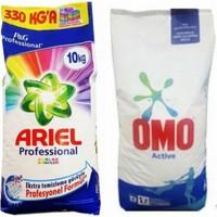 Omo Actıve 10 kg Toz Çamaşır Deterjanı + Ariel Professıonal Parlak Renkler 10 kg Toz Çamaşır Deterjanı