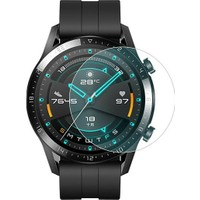 Case 4U Huawei Watch GT2 Tam Kaplayan Cam Ekran Koruyucu 46 mm Şeffaf