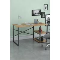 Bofigo 60X120 cm 2 Raflı Çalışma Masası Bilgisayar Masası Ofis Ders Yemek Masası Çam