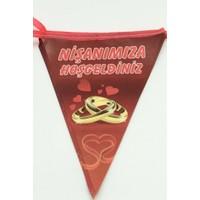 Dünya Keçe Dünyakeçe 1 Adet 10 Bayraklı Nişanımıza Hoşgeldiniz Flama