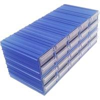 Sembol 300 Plastik Çekmeceli Kutu En Küçük Ebat 20 Çekmeceli 4,6 x 11,7 x 2,4 cm