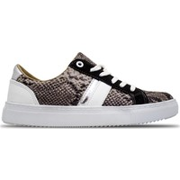 Ebru Şallı Yılan Desenli Siyah 38 Numara Sneaker