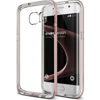 VRS Galaxy S7 Edge Crystal Bumper Kılıf Rose Gold