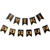 Datapos Siyah - Gold Iyiki Doğdun Banner