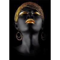 Marmara Reklam Afrikalı Kadın Temalı Dekoratif Kanvas Tablo