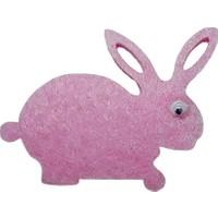 Dünya Hediye 3,5 cm Keçe Pembe Tavşan 10'lu Paket