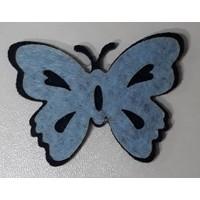 Dünya Hediye 4,5 cm Keçe Açık Mavi 10'lu