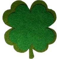 Dünya Hediye 5 cm Keçe Yeşil Yonca 10'lu Paket