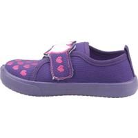 Sanbe 106P108 Okul Kreş Işıklı Kız Çocuk Keten Panduf Ayakkabı Mor 20