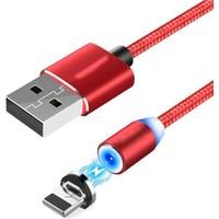 Marstec Type-C Mıknatıslı Şarj Kablosu 1m Kırmızı