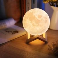 Bendenal Sarı 3D Ay Gece Lambası Dekoratif Küre