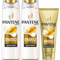 Pantene Şampuan Onarıcı ve Koruyucu Bakım 500 ml 2'li Paket + 3 Minute Miracle Saç Bakım Kremi 200 ml