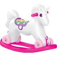 Dolu 2509 Unicorn Sallanan Tekerlekli At