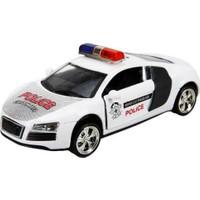Maxx Wheels Sesli ve Işıklı Polis Arabası 13 cm Audi